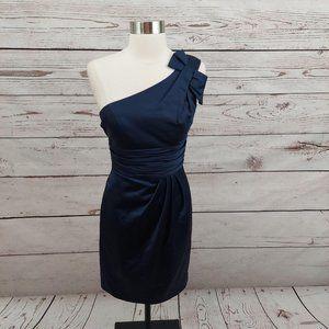 David's Bridal One Shoulder Satin Formal Dress 0